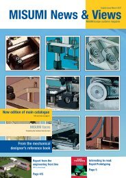 New edition of main catalogue - MISUMI Europe
