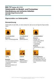 Gefahrstoffe im Modell- und Formenbau Handhabung und sicheres ...