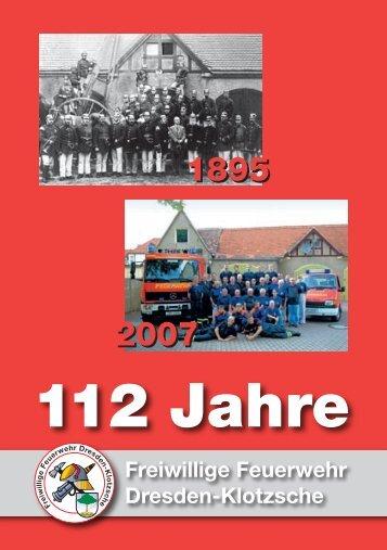 112 Jahre - Förderverein Freiwillige Feuerwehr Dresden-Klotzsche