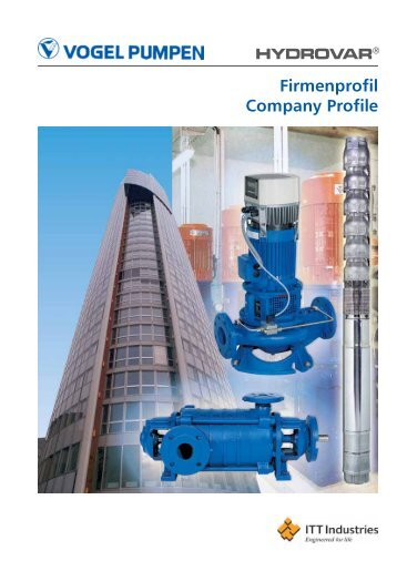 Firmenprofil Company Profile - Pumpenfabrik Ernst Vogel