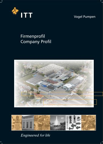 Firmenprofil Company Profil - Pumpenfabrik Ernst Vogel