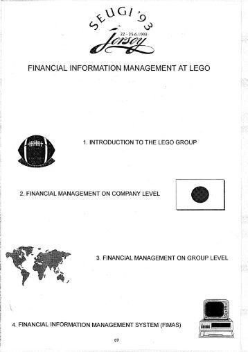financial information management at lego - sasCommunity.org