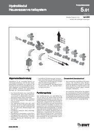 Product descriptions HydroModul Standard modules und ... - BWT