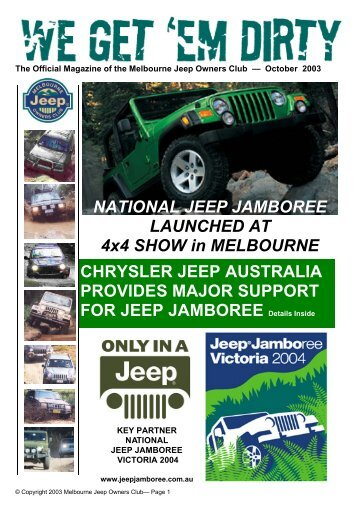 October 2003 - Melbourne Jeep Owners Club