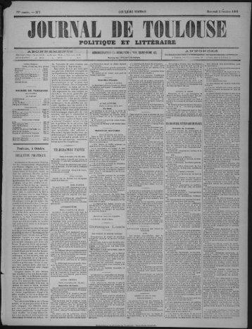 POLITIQUE ET LITTÉRAIRE - Bibliothèque de Toulouse