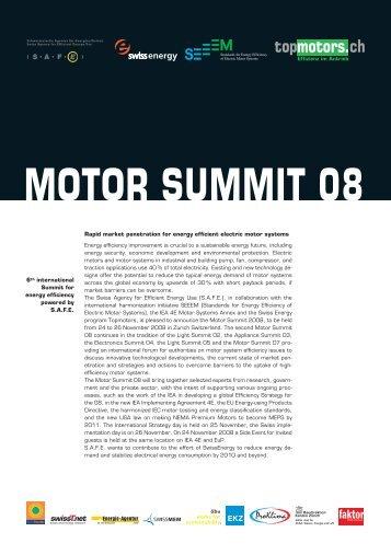 MOTOR SUMMIT 08 - IEA 4E - Electric Motor Systems Annex
