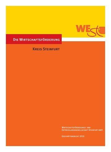 Geschäftsbericht der WESt 2010 - Wirtschaftsförderungs- und ...