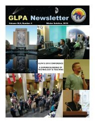 continued - Great Lakes Planetarium Association