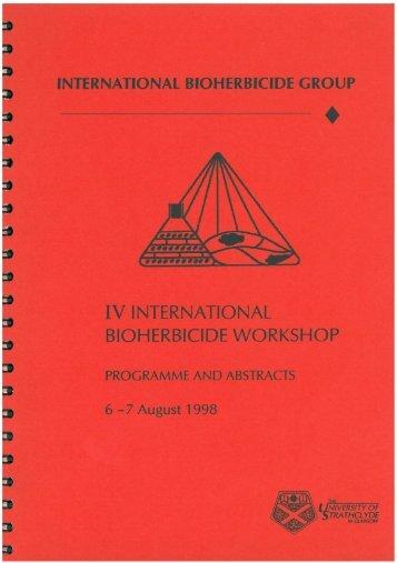 IV INTERNATIONAL BIOHERBICIDE WORKSHOP