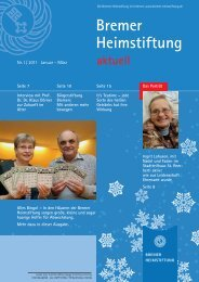 Willkommen zum »Tag der offenen Tür - Bremer Heimstiftung