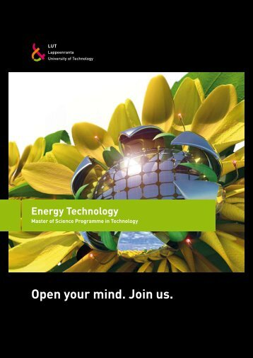 Open your mind. Join us. Energy Technology