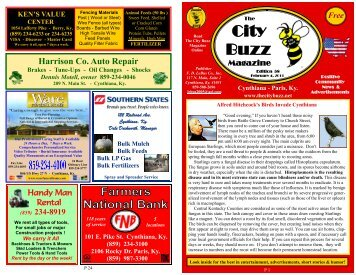Edition - The City Buzz Magazine - Cynthiana KY Home Page