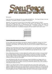 The Order of Dawn – Maps - Portail principal vers Spellforce