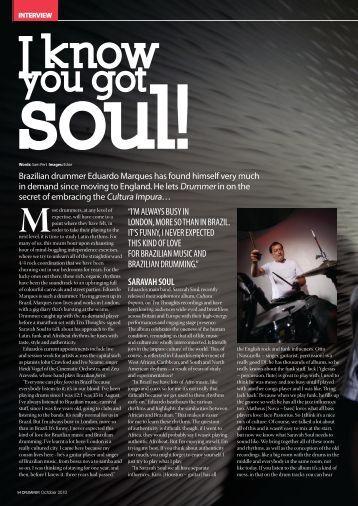 Drummer Magazine - 2010 - Interview with Eduardo Marques