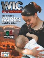 2010 Annual Report - New Mexico Women, Infants & Children