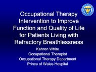 Occupational Therapy Intervention to Improve Function and Quality ...