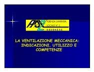 ventilatore meccanico - ASL 2 Savonese