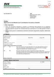 Ventilation mécanique à domicile: Commande SVK - Lega polmonare
