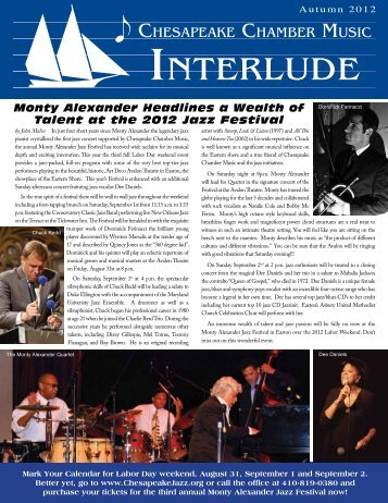 Newsletter 4 - Chesapeake Chamber Music
