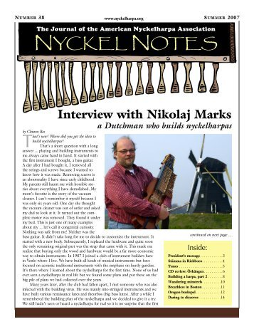 Interview with Nikolaj Marks - American Nyckelharpa Association