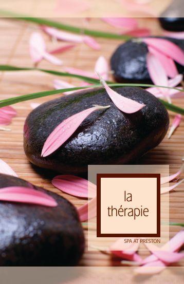 Breathe in, Exhale. - La Therapie Spa at Preston