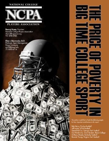 Price of Poverty in Big Time - National College Players Association