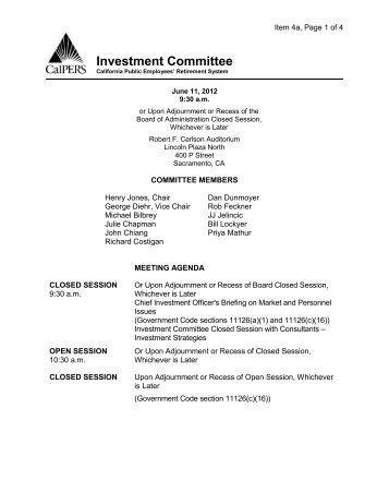Agenda Item Draft Agenda For The June 2012 Committee Meeting  Draft Meeting Agenda