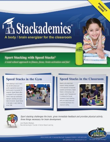 Speed Stacks in the Gym Speed Stacks in the Classroom Sport ...