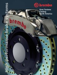 High performance brake systems - Brembo