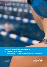3 protecting children from violence in sport - Innocenti Research ...