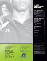 Russell Athletic 2012 Mens Basketball Fast Break Catalog