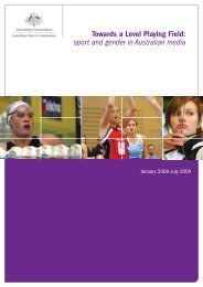 Towards a Level Playing Field - Australian Sports Commission