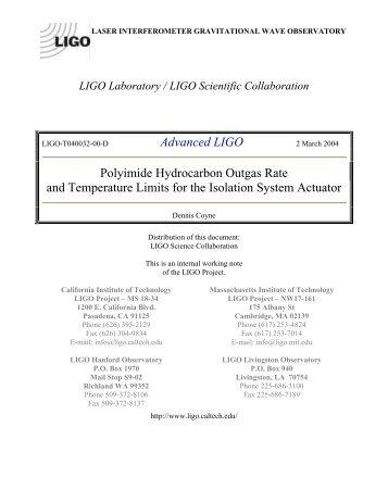 contact us - LIGO - California Institute of Technology