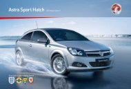 Astra Sport Hatch 2011 Models Edition 1 - Vauxhall