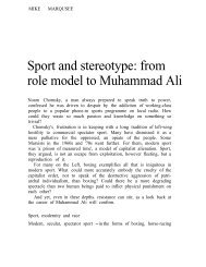 Sport and stereotype: from role model to Muhammad Ali