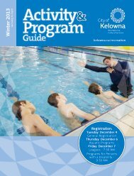 Rec Guide - City of Kelowna