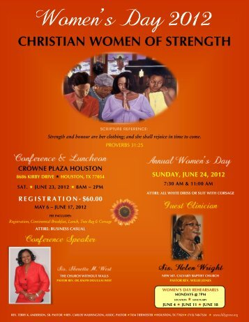 christian women of strength - Lilly Grove Missionary Baptist Church