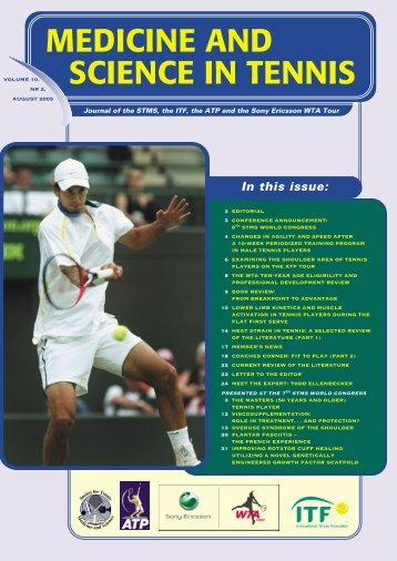 MEDICINE AND SCIENCE IN TENNIS - ITF