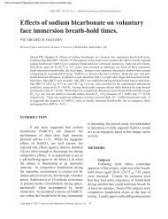 Effects of sodium bicarbonate on voluntary face immersion breath ...