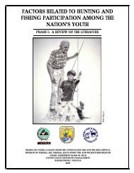 Factors Related to Hunting and Fishing Initiations, Participation, and ...