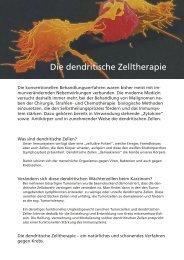 Die dendritische Zelltherapie - Dr. med. Peter Matthai