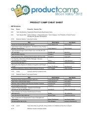 product camp cheat sheet product camp cheat sheet