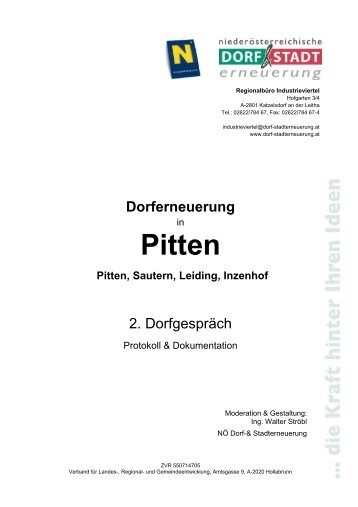 Dorferneuerung - Pitten
