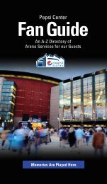 Fan Guide - Pepsi Center