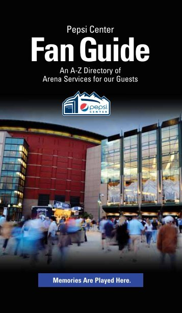 Fan Guide - Pepsi Center