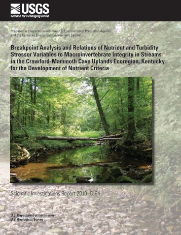 Breakpoint Analysis and Relations of Nutrient and Turbidity ... - USGS