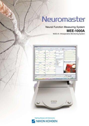 MEE-1000A Neuromaster Neural Function ... - Nihon Kohden