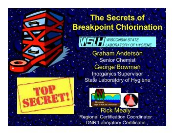 The Secrets of Breakpoint Chlorination - Wisconsin Department of ...