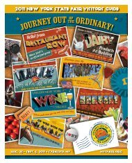 2011 New YoRK stATE FaIr VIsiToRs GuIDe