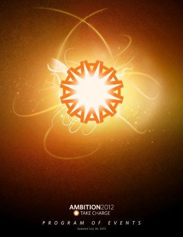 P R O G R A M O F E V E N T S - Ambit Energy